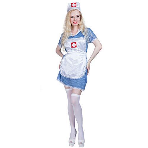 MEIXIA Atmosphäre Leistung Tanz Kostüm/Halloween Kostüme/Erwachsene Tragen/Magd Arzt Kleid ()