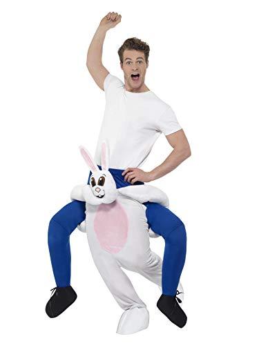 SMIFFY 'S 24653Piggyback Kaninchen Kostüm, weiß, One Size (Kostüm Weißes Kaninchen Ideen)