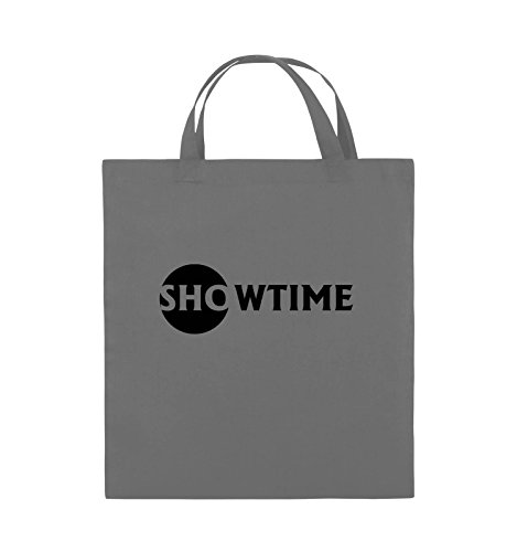 Comedy Bags - SHOWTIME - BILLIONS - Jutebeutel - kurze Henkel - 38x42cm - Farbe: Schwarz / Silber Dunkelgrau / Schwarz