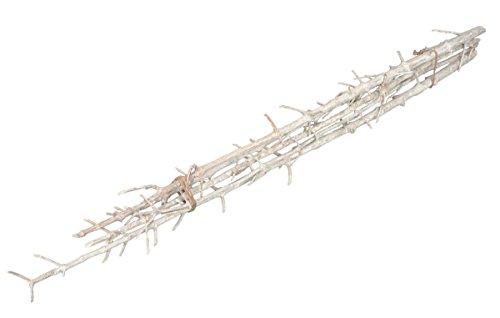 NaDeco Leiter Zweig weiß 5 Stück ca. 100cm | weiße Deko Äste | Deko Zweig weiß | weißer Dekozweig | Dekoast weiß | Dekoäste | weiße Dekozweige | Holzdeko weiß
