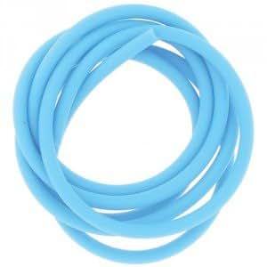 Tube Creux PVC Turquoise 1mx4mm - Bijoux DIY
