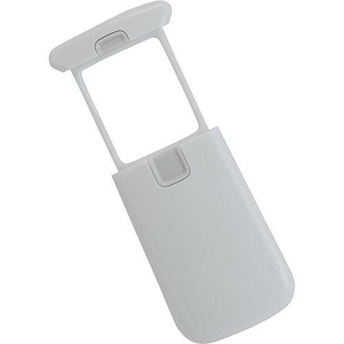 Ecobra 828320 Taschen-LED-Schiebelupe, 3-fach, 45 x 38 mm Stück, weiß/grau