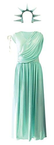 Emmas Kleiderschrank amerikanische Freiheitsstatue Kostüm für Frauen - UK Größen 8-14 (Women: 38, Statue)