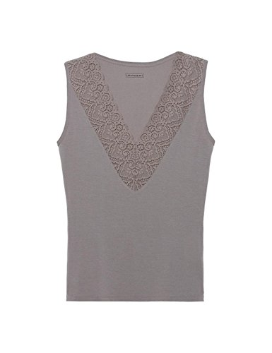Intimissimi Damen Langarm-Shirt aus Modal mit Spitzeneinsätzen Hautfarben -  7662