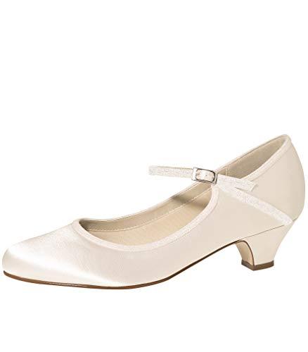 81c95a858 Zapatos de Novia Rainbow Club Marsha satén Zapatos 3,5 cm fÄRBBAR Tacones  Altos Zapatos Marfil con Correa, Color Marfil, Talla 43 EU