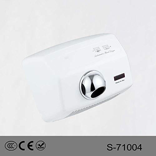 ZTJ-Lighting Automatische Händetrockner, Hochgeschwindigkeits Kommerzielle Händetrockner, 2300W Hochleistungs-Wandtrockner for Badezimmer/Toiletten, 220V -