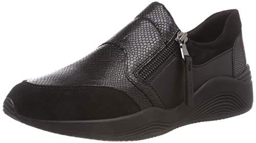 Geox D Omaya A, Zapatillas para Mujer, (Black C9997), 40 EU