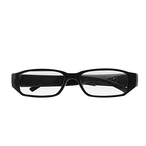 Umanor 8GB Mini Kamera Brille, DVR Überwachungskamera, Video und Foto aufnehmen, Loop-recording