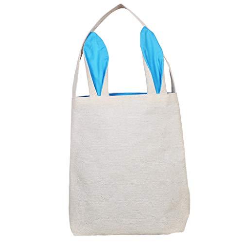 Ohrkorb, Kaninchen gedruckt Leinwand Geschenk Jute Tasche Geschenk Tasche für Osterei Hunt Candy Bag ()
