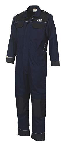 JCB - Tuta da uomo con tasche ginocchiere, lunghezza regolare, colore: Blu/Nero, Taglia M