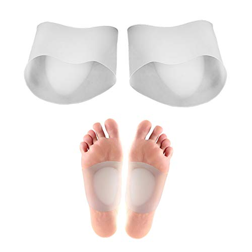 Gel Arch Support Sleeves, Arch Support Gel Pads für Plantar Fasciitis, Plattfüße, hohe oder gefallene Bögen, Fuß und Fersenschmerzlinderung reduzieren -