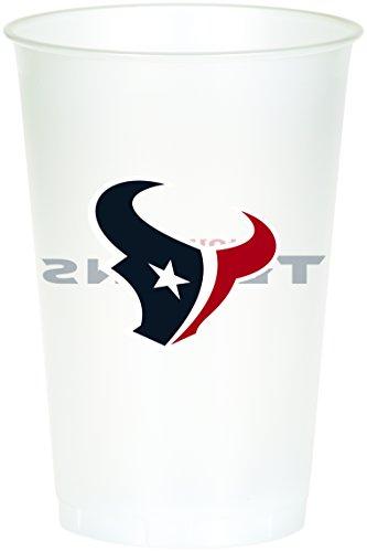 Creative Converting Offiziell lizenzierte NFL bedruckte Plastikbecher, 8 Stück, 570 ml Cups (20 Oz-kunststoff-klar-cups)