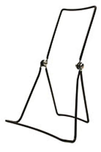 Gibson Holders Three Wire Display Stand for Books, Cookware, Electronics, Set of 2, Black (DCW-B)
