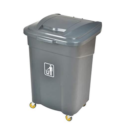 Mülleimer Große Kapazität Outdoor Mülleimer Clamshell Typ Umwelt Recycling Mülleimer Hotel Küche Park Mülleimer mit Rädern