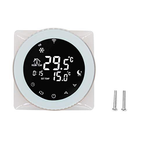 Demino Programmierbare Sprachsteuerung Thermostat elektrisch Heizungstemperaturregler LCD Touch Screen WiFi Thermostat -