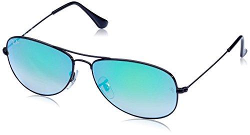 Ray-Ban Unisex Sonnenbrille Mod. 3362 Gestell: schwarz, Gläser: grün Gradient 002/4J), Large (Herstellergröße: 59)