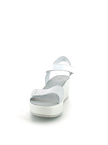 Zeppa In Sandalo Made Argento 7821 amp;co Igi bianco Donna Silber Italy Scarpa Pelle qwX6xBvT