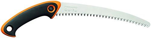 Fiskars Profi Handsäge für frisches Holz, Grobzahnung, Hochwertiges Stahl-Sägeblatt, Schwarz/Orange, SW-240, 1020200
