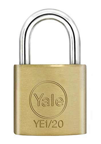 Yale YALYE120 Candado De Seguridad, 0 W, Latón, 20Mm