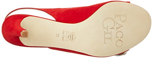 Paco Gil P3271, Sandales  Bout ouvert femme Rot (PASSION)