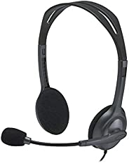 Logitech H111 Wired Headset, Stereo Headphones with Noise-Cancelling Microphone, 3.5 mm Audio Jack, PC/Mac/Lap