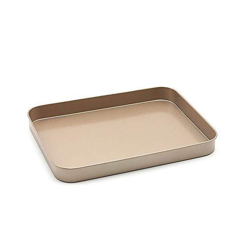 1 Stücke Gesunde Breite Raum Stahl Rechteck Toaster Ofen Pan Tray Kuchen Brot Ofengeschirr Platte antihaftbacken Werkzeug