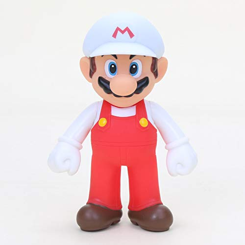 Super Mario - Figura Mario Blanco 12 cm / 5' Figure White Mario