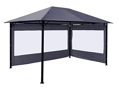 Quick-Star 2 Seitenteile für Pavillon Nizza 3x4m Seitenwand Grau