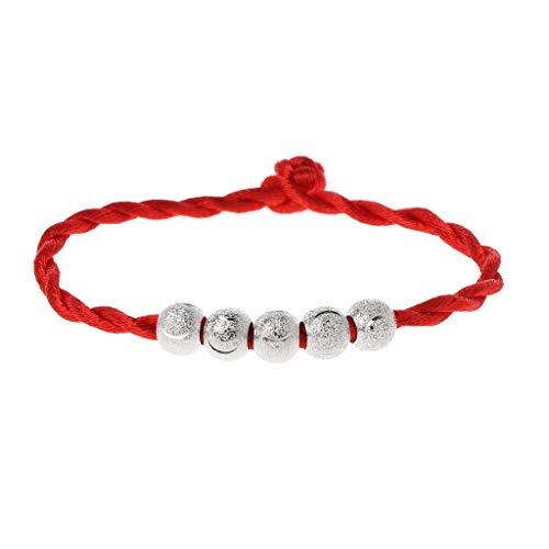 linlin Kabbalah Cuerda roja Pulseras de Cuerda Buena Suerte Amuleto Joyería Budista 5#