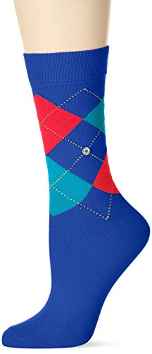 Burlington Damen Strick Socken Queen, Mehrfarbig (night blue 6048), 36/41