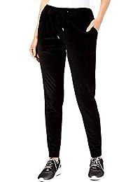 Michael Kors Womens Black Velvet Jogger Pants Petites Size: L