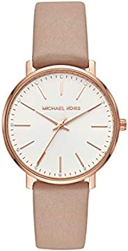 Michael Kors Pyper Women's White Dial Leather Analog Watch - MK
