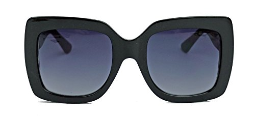 9c4329583f5 Große 70er Jahre Retro Sonnenbrille im Designer Look Square Blogger Style  PSH (Triple Black)