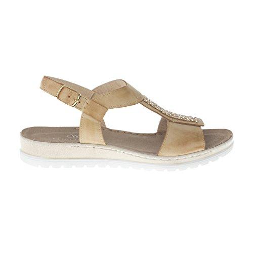 tessamino Damen Sandale aus echtem Leder | modern | Weite H Beige