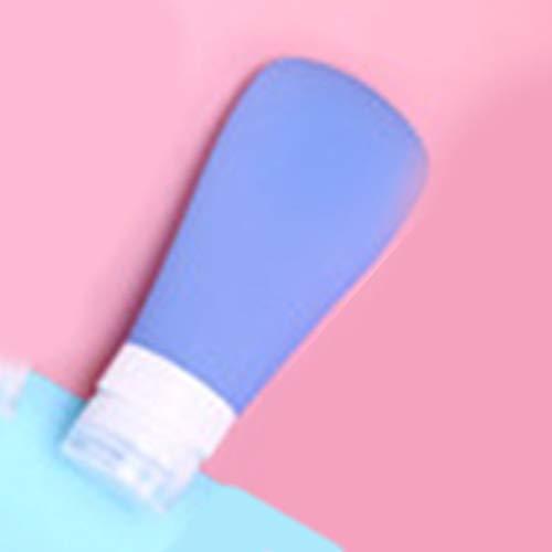 1 STÜCK Nette Reise Tragbare Flaschen Shampoo Leere Lotion Make-Up Container Silikonschlauch Quetschflasche Reiseflasche 60 ml Blau -