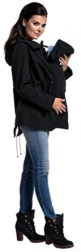Zeta Ville - Umstands Softshell Mäntel Kapuze herausnehmbaren Panel - Damen 447c Schwarz