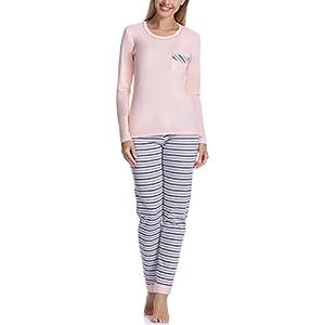 Italian Fashion IF Pijama Camiseta y Pantalones Mujer D1FN2 M007