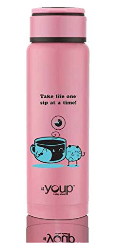 Youp Thermo Steel Bottle 260 ml YP-261 (Pink)