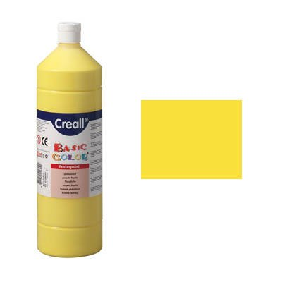 Creall havo01802 1000 ml 02 Primary gelb Havo Basic Farbe Poster Paint, Flasche