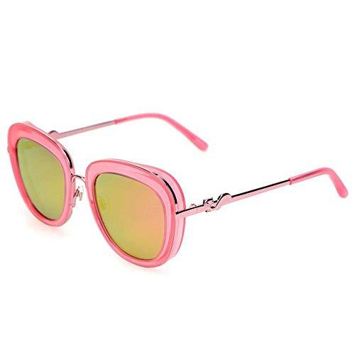 CN Sonnenbrille-Frauenart und weisespiegel-Gezeitenleute bunter Froschspiegel polarisierte Sonnenbrille,Rosa Rahmen Pul,1