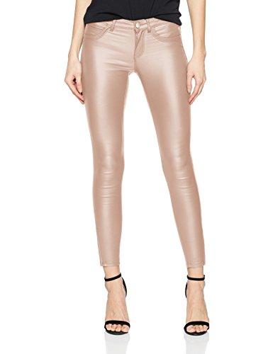 ONLY Damen Skinny Jeans Onlkendell Reg Sk Ank Coated Pnt Bj Noos, Rosa (Misty Rose), 40/L32 (Rose Hose Jeans)