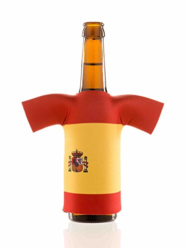 Flaschentrikot Spanien - Flaschenkühler, Bierkühler, Getränkekühler aus Neopren - Fanartikel und Partyspaß zum Grillen, Public Viewing und (Olympia Kostüm Ideen Team)