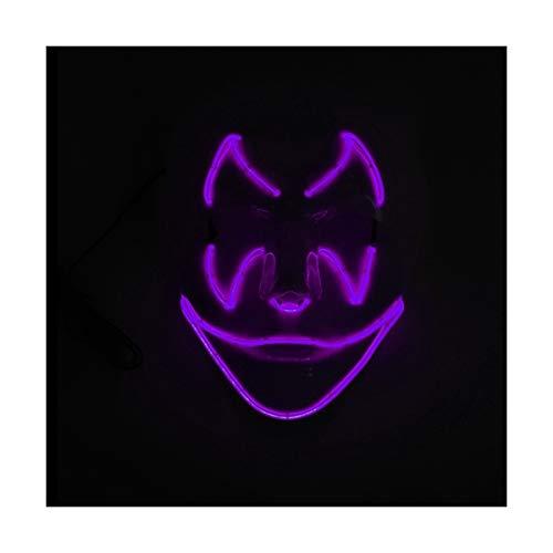 YOIO LED-Maske Fledermaus-Smiley-Geburtstagsfeier-Partei EL Kaltlicht-glühende Maske, Purpurrot