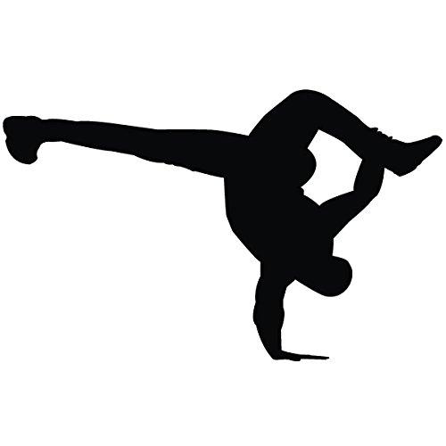 Kupfer Flare (Wadeco Breakdance one Handed Air Flare Wandtattoo Wandsticker Wandaufkleber 35 Farben verschiedene Größen, 136cm x 84cm, kupfer)