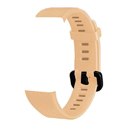 WAOTIER für Huawei Band 3 Band 3 Pro Armband Silikon Armband mit Schwarzem Verschluss Ersatzarmband Kompatibel für Huawei Band 3/3 Pro Atmungsaktiver Wasserdichter Armband für Männer Frauen (Gold)