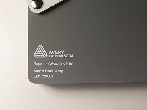 Avery supreme wrapping pellicola auto wrap film serie grigio scuro opaco 500x 152cm
