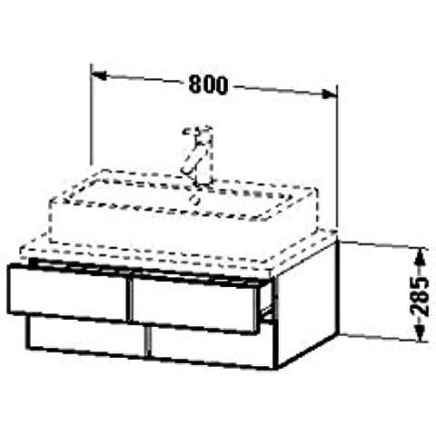 Duravit lavabo debajo del gabinete para consola Vero 518 x 800 x 285 mm 2 cajones, mediterránea de madera de roble, VE657107171