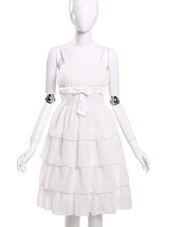 JK2 - Robe de cocktail Volants blanc - Taille M