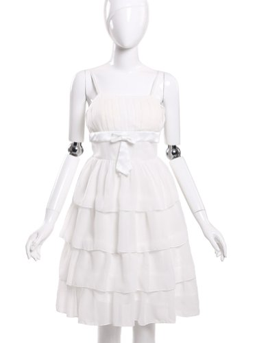 JK2 - Robe de cocktail Volants Blanc