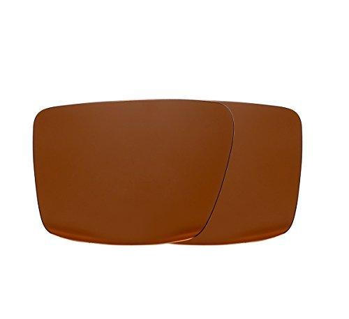 Neue Marke polalized Ersatz-Objektive für Oakley Augenklappe 2Sonnenbrille Eiche & Ban mehrere Farbe Optionen weiß im Rasterdesign, Brown-Polarized